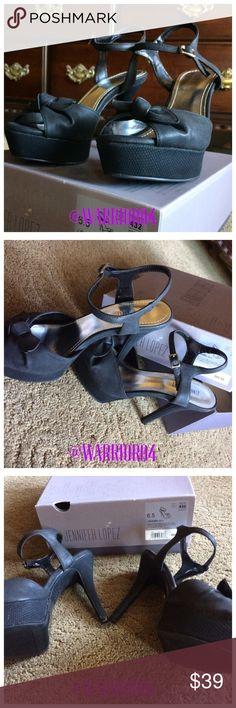 🆕🆕Jennifer Lopez Black Fleur Heels NWT🆕🆕 🆕🆕Jennifer Lopez Black Fleur Heels NWT original box🆕🆕 Jennifer Lopez Shoes Heels