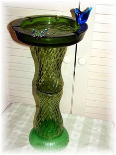 Totem Bird Feeder  - A good idea for recycling that nasty old ash tray. :)