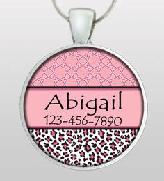 Pet ID - Pet Tag - Dog Tag - Dog Name Tag - Dog Tag for Dogs - Custom Dog Tag - Leopard Tribal Pattern - Gifts for Dogs -  - Design No. 172