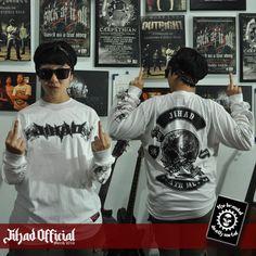 Official : Jihad Death Metal (Merch 2016) Long Sleeve : The Brandal Death Metal Size : M - L - XL - XXL (Import) Price : Rp. 145.000,- (Exclude Shipping) Plus : Sticker GrafTac TBDM (8cm x 10cm) Order : 085222090666 / 085723321707 Pin : 2A1DF4D1 / 54C5312B Instagram : https://www.instagram.com/jihadeathmetal/