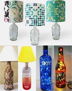 Como fazer um abajur na garrafa de vidrohttp://www.viladoartesao.com.br/blog/2014/09/como-fazer-um-abajur-com-garrafa-de-vidro/