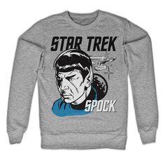 Star Trek - Star Trek And Spock heren unisex sweatshirt trui grijs - Superhelden…