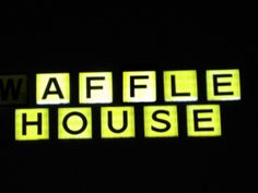 Waffle House With The W Light Out Waffle House Light House