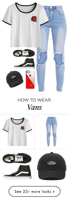 """Very cute, yet simple 27"" by lollypopz951 on Polyvore featuring Vans, Casetify and swag"