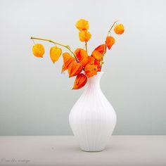 Große+weiße+Vase+aus+Porzellan+von+PMR+Bavaria+von+WeLikeVintage