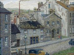 Charles Ginner (British, Lancaster from Castle Hill Terrace, Oil on canvas, x 68 cm. Brighton and Hove Museums and Art Galleries Ripon Cathedral, Norwich Cathedral, Camden Town, Camden Group, Brighton And Hove, Art Uk, Urban Life, South Of France, City Art