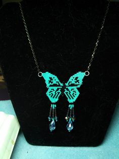 Butterfly Necklace by spirithorsegems on Etsy, $40.00