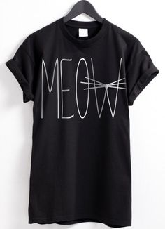 This Meow T-shirt is pretty cute! I like it! #friki #hipster #camiseta #camisetaes
