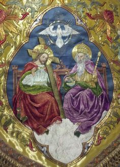 Vestment Embroidery of the Blessed Trinity