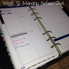 Week 51 Monday Before Shot #filofax #daytimer #franklincovey #diyfish #lifemapping #planner #organization