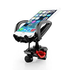 Voscale Bike Phone Mount Holder with Tight Rubber Band, Bicycle/Motorcycle Handlebar Cellphone Cradle Adjustable to Fit Any Smart Phone (Iphone, Samsung ,Nokia, Motorola...), Iphone 6. (Black) - Voscale Phone Mount holds almost Smartphone and GPS?  The carefully designed clamp automatically adjusts to grip your device perfectly. Custom designed for your precious iPhone 6s Plus / 6 Plus / 6s / 6/ 5S /5 / 5C /4S / 4 , iPod Touch, Samsung Galaxy S6 / S5 / S4 / S3, Note 1/2/3/4,