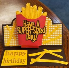 Love the raised French fry box. I can put money in it for a birthday or a McDonald's gift card.