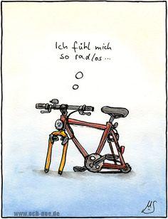 Cartoon Blaues Haschen Mit Dem Fahrrad Lustige Blaue Hase Mit