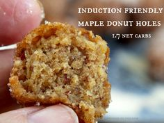 Maple Donut Holes - made with pork rinds and almond flour - low carb & gluten free - Low Carb-ology