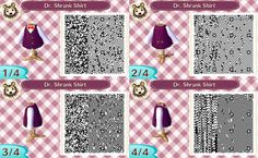 Animal Crossing: New Leaf- Dr. Shrunk Shirt QR Code.