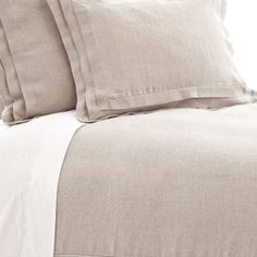Pleated Linen Natural Duvet