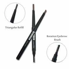 Brainbow Pencil With Brush - Matita con spazzola per Sopracciglio Eyebrow Brush, Straightener, Eyebrows, Beauty, Eye Brows, Cosmetology, Dip Brow, Brow, Eyebrow