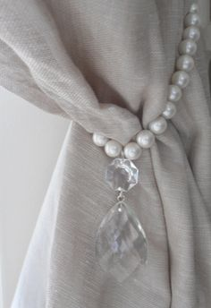 SET OF 2 decorative curtain tiebacks faux by MilanChicChandeliers