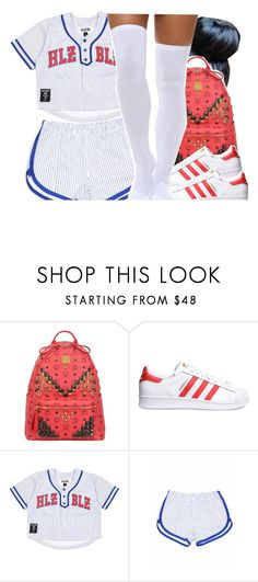 """""""Jai"""" by lulu-foreva ❤ liked on Polyvore featuring MCM, adidas Originals, Dukes, women's clothing, women, female, woman, misses and juniors"""