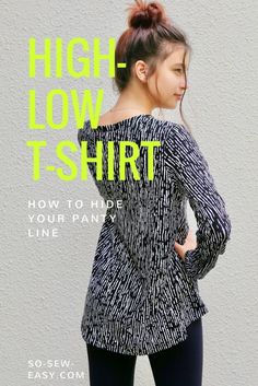 The high-low t-shirt tutorial with free pattern to download!