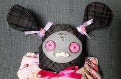 Unique gift handmade fabric rag doll - Ballerina by SzyszkaDolls on Etsy Unique Gifts, Handmade Gifts, Rag Dolls, Fabric Art, Ballerina, Vintage, Funny, Artwork, Cute