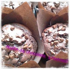 Muffin de chocolate con nueces
