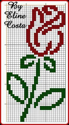 Cross Stitch Beginner, Mini Cross Stitch, Cross Stitch Rose, Cross Stitch Alphabet, Cross Stitch Flowers, Cross Stitching, Cross Stitch Embroidery, Embroidery Patterns, Cross Stitch Designs
