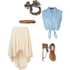 A fashion look from August 2012 featuring Octavia tops, Ariya skirts and Steve Madden sandals. Browse and shop related looks.