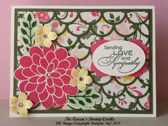 Sympathy card using the Striped Scallop Thinlit