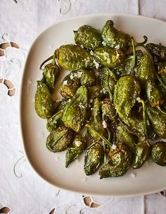 Pimientos Padron - great as a side dish or as a tapas-style snack! Super easy.