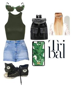 """Tribal Green"" by demonchild1183 on Polyvore featuring Topshop, Kendall + Kylie, Converse, Dolce&Gabbana and John Lewis"