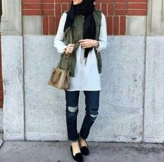 Cargo vest hijab-Hijab style 2017 – Just Trendy Girls