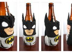 CROCHETED COLD CAN KOZIES... lol...  Batman