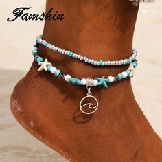 End of Summer Sale Beaded Anklets, Anklet Jewelry, Anklet Bracelet, Beach Jewelry, Bracelets, Fashion Colours, Bar Necklace, Types Of Metal, Fashion Jewelry