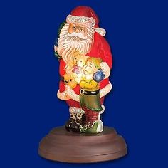 Old World Christmas Santa's Bright-Eyed Buddy Glass Night Light Figurine 529771