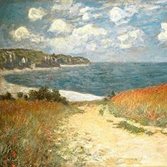 Monet Wall Art Collection The The Passage to The Sea Near Pourville, 1882 Canvas Prints Wrapped Gallery Wall Art Claude Monet, Tom Och Jerry, Writing Posters, Prado, Caravaggio, Hanging Art, Jurassic World, Stretched Canvas Prints, Watercolor Illustration