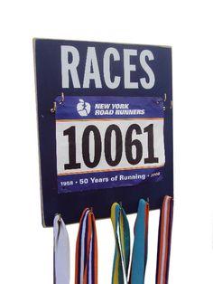 Make Race Bib/medal Displays a stylish Décor Piece. $33.00, via Etsy.