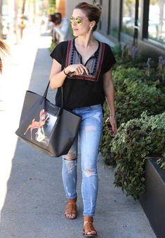 Sophia Bush and Givenchy Bambi Natigona Shopper