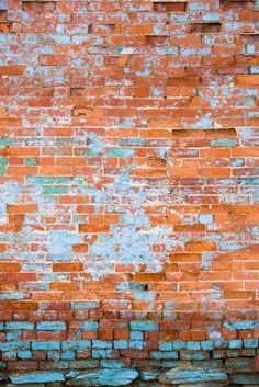 colors to paint distressed brick wall - Google Search