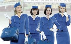 Christina Ricci, second from right, stars as Maggie in 'Pan Am' Pan Am, Berlin Hauptstadt, Stewardess Costume, I Dream Of Genie, Mad Men Party, Come Fly With Me, Pretty Beach, Christina Ricci, Jackie Kennedy