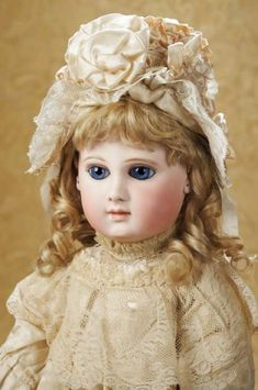 The Well-Bred Doll: 61 Earliest Period E.J. Bebe by Emile Jumeau with Original…