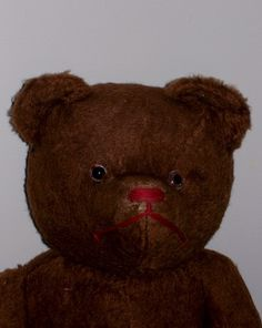 "Charming Old 19"" Mohair Bear  Offered by Ruby Lane shop Faraway Antique Shop"