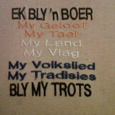Ek bly ń boer Africa Symbol, South African Flag, Inspirational Quotes For Girls, Afrikaanse Quotes, Xhosa, Life Rules, My Land, African History, Girl Quotes