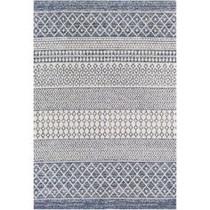 Union Rustic Enloe Southwestern Cotton Navy Blue/Ivory Area Rug Rug Size: Rectangle x Wood Stair Treads, Southwestern Area Rugs, Moroccan Area Rug, Machine Washable Rugs, Contract Design, Global Style, Blue Area Rugs, Colorful Rugs, Rug Size