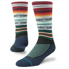 The Stance Mahalo Athletic Socks in Multi is a pair of cool socks with a very vibrant design. The Mahalo is a training crew that features moisture-wicking fibres and a mosaic of mesh. Hiking Socks, Running Socks, Socks World, Tough Woman, Globe Skate Shoes, Stance Socks, Boys Underwear, Kids Socks, Socks