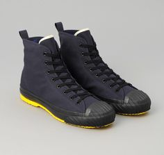 SN6-315 - VENTILE ALL-WEATHER HIGH TOP SNEAKERS, NAVY :: HICKOREE'S