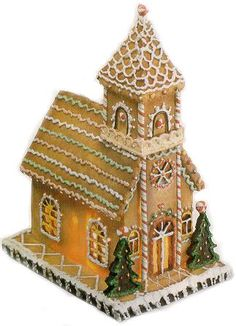 gingerbread house template Gingerbread Church, train and other templates plus recipe for the gingerbread Gingerbread House Patterns, Gingerbread House Template, Gingerbread House Parties, Gingerbread Village, Christmas Gingerbread House, Gingerbread Man, Gingerbread Cookies, All Things Christmas, Christmas Crafts