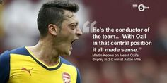 #Arsenal defeats Aston Villa 3-nil