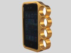 Capinha de iPhone com espaço para segurar como se fosse um anel é de ouro e custa 1.297 dólares