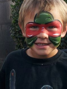 Turtle power face painting